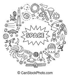 いたずら書き, 要素, スペース