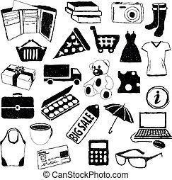 いたずら書き, 買い物, 映像