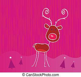 いたずら書き, 雪, クリスマス, rudolph, トナカイ