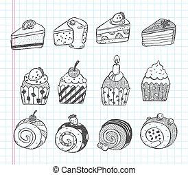 いたずら書き, cupcake, アイコン