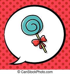 いたずら書き, lollipop, キャンデー