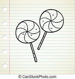 いたずら書き, lollipops