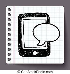 いたずら書き, sms