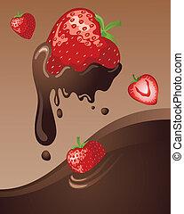 いちご, チョコレート