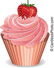 いちご, cupcake