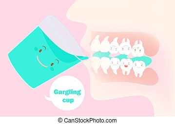 うがい薬, 歯