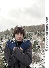 うすら寒い, 冬, 雪