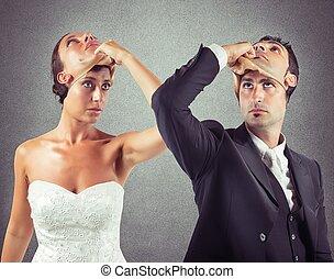 うそつき, 結婚
