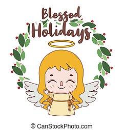 うれしい, 挨拶, クリスマス, 少し天使