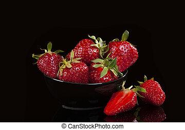 おいしい, strawberries.