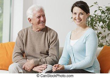 おじいさん, 彼の, 孫娘