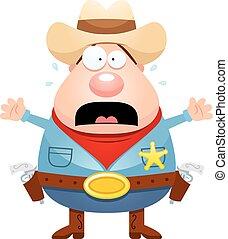 おびえさせている, 漫画, 保安官