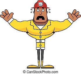 おびえさせている, 漫画, 消防士