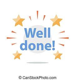 おめでとう, 成功した, 業績, 井戸, 動機づけ, 奨励, メッセージ, 句, される