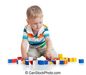 おもちゃのブロック, 遊び, 子供