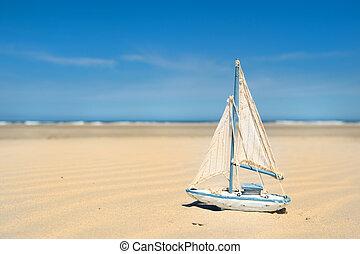 おもちゃのボート, ビーチにおいて