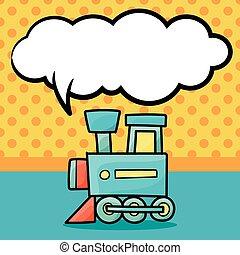 おもちゃの列車, いたずら書き