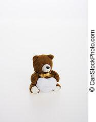 おもちゃ, ∥あるいは∥, おもちゃ, 熊, 上に, a, バックグラウンド。