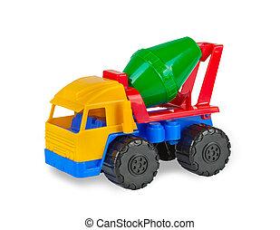 おもちゃ, カラフルである, セメントミキサー, machine.