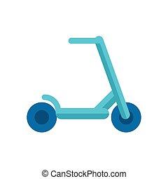 おもちゃ, スケート, アイコン, 平ら, 板, スタイル