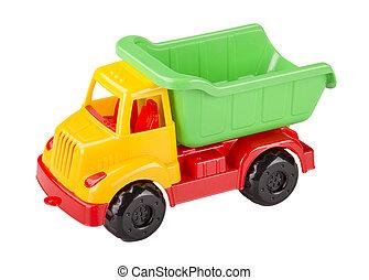 おもちゃ, トラック, トラック, ゴミ捨て場