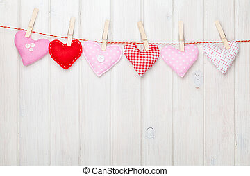 おもちゃ, バレンタイン, ロープ, 掛かること, 心, 日