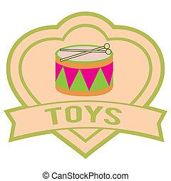 おもちゃ, ラベル
