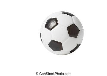 おもちゃ, 上に, ボール, 背景, 白, サッカー