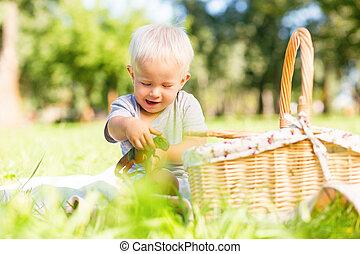おもちゃ, 公園, 遊び, 子供, 幸せ