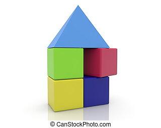 おもちゃ, 屋根, 立方体