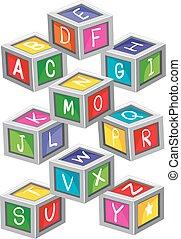 おもちゃ, 手紙, ブロック