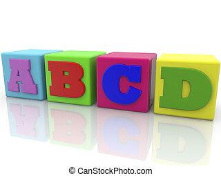 おもちゃ, 手紙, 立方体