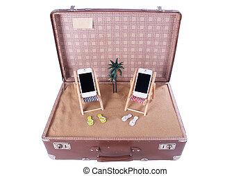 おもちゃ, 移動式 電話, 2, 椅子, 小片, 浜