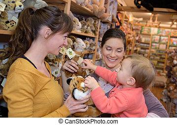 おもちゃ, 買い物, 店