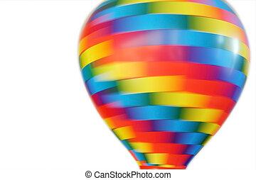 おもちゃ, balloon, ぐるぐる回る, 隔離された, 多彩, 背景, 白, 温風