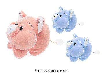 おもちゃ, piggies, 柔らかい