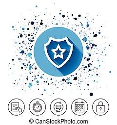 お気に入り, icon., 星, 保護, protection.