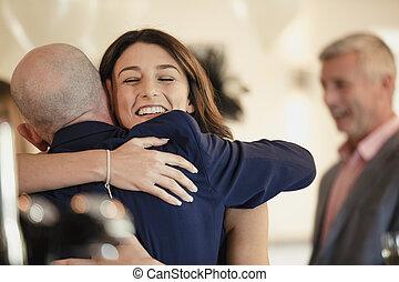 お父さん, 共有, 瞬間, 結婚式, 私, 日