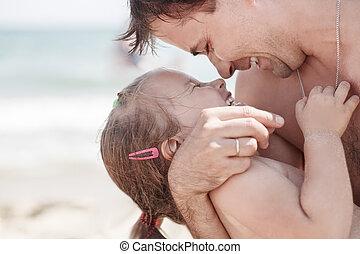 お父さん, 娘, 笑い