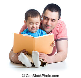 お父さん, 本, 読書, 子供