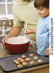 お父さん, cookies., 息子, 作成