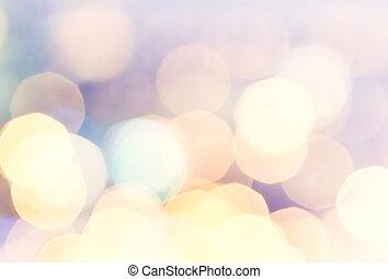 お祝い, ライト, 光ること, バックグラウンド。, bokeh, 焦点がぼけている, 型, bac