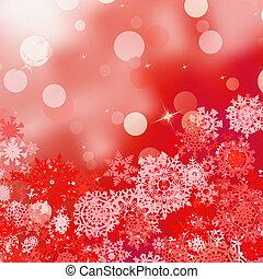 お祝い, lights., eps, bokeh, 8, クリスマス, 赤