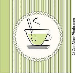 お茶, カード, メニュー