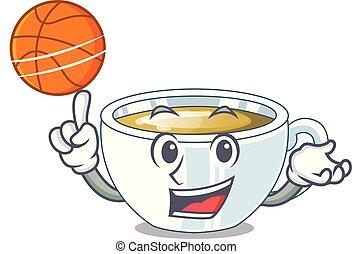 お茶, マスコット, バスケットボール, ショウガ, ガラス