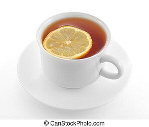 お茶, レモン, カップ