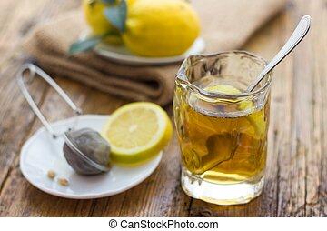 お茶, レモン