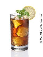 お茶, レモン, 氷