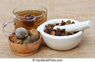 お茶, 作られた, triphala