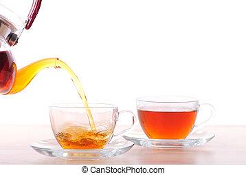 お茶, 口をとがらす, ティーポット